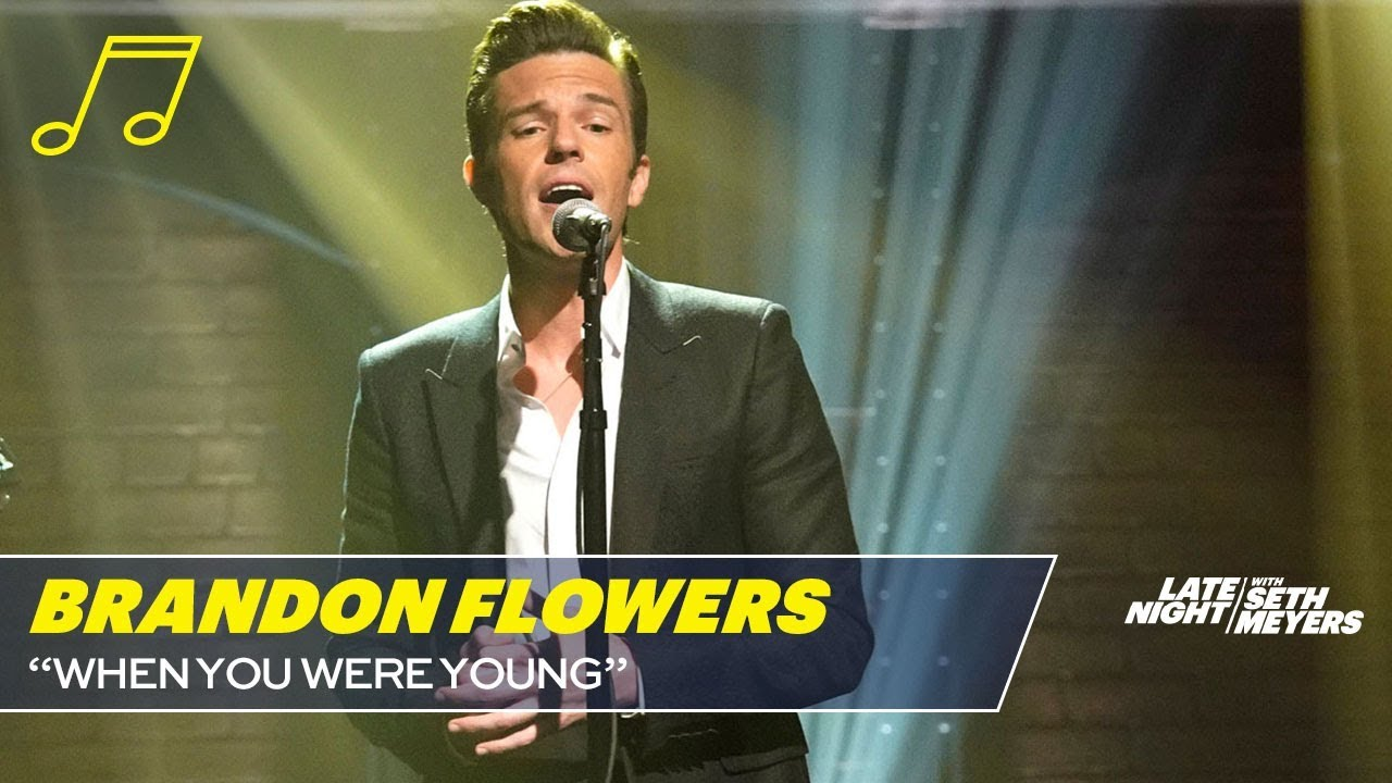 Watch: The Killers' Brandon Flowers sings acoustic version of 'When You Were Young' on 'Seth Meyers'