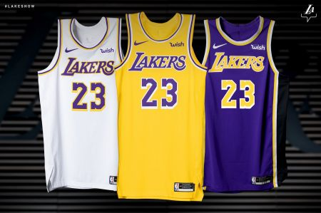 1c6e765fbb1d Lakers upgrade uniforms for 2018-19 season