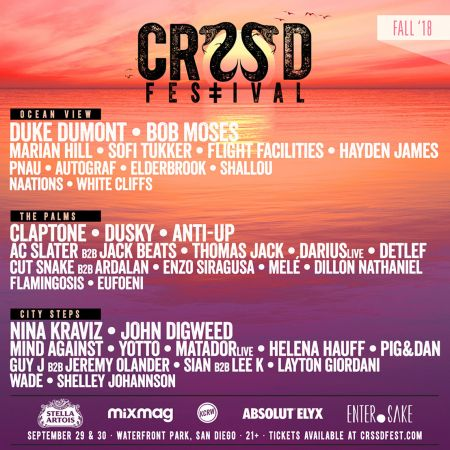 CRSSD Festival announces additional acts to fall 2018 lineup