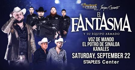 Tickets to see the El Fantasma Rancheando En La Ciudad tour at Staples Center on Sep. 22, 2018, are available here at AXS.