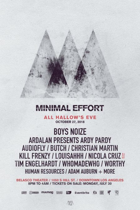 Minimal Effort invades LA's Belasco Theater for massive Halloween event