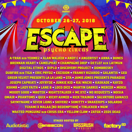 Escape: Psycho Circus unveils monster-sized lineup for Halloween festival