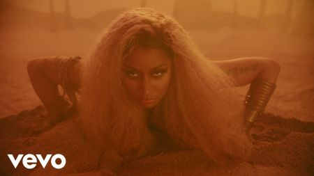 Watch: Nicki Minaj reenacts album cover art in 'Ganja Burn' music video