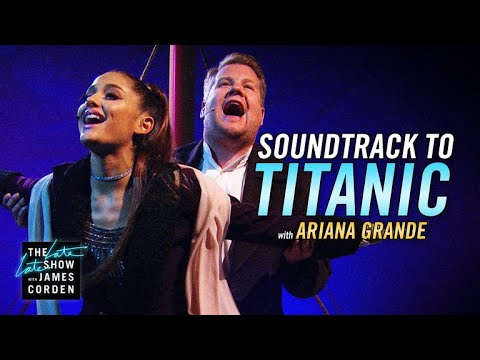 Watch: Ariana Grande and James Corden remake Titanic soundtrack with Hall & Oates and Foo Fighters covers