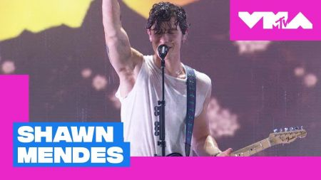 Watch: Shawn Mendes gets wet when performing 'In My Blood' at the 2018 MTV VMAs