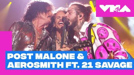 Watch: Aerosmith returns to 2018 MTV VMAs after 24 years, performs with Post Malone