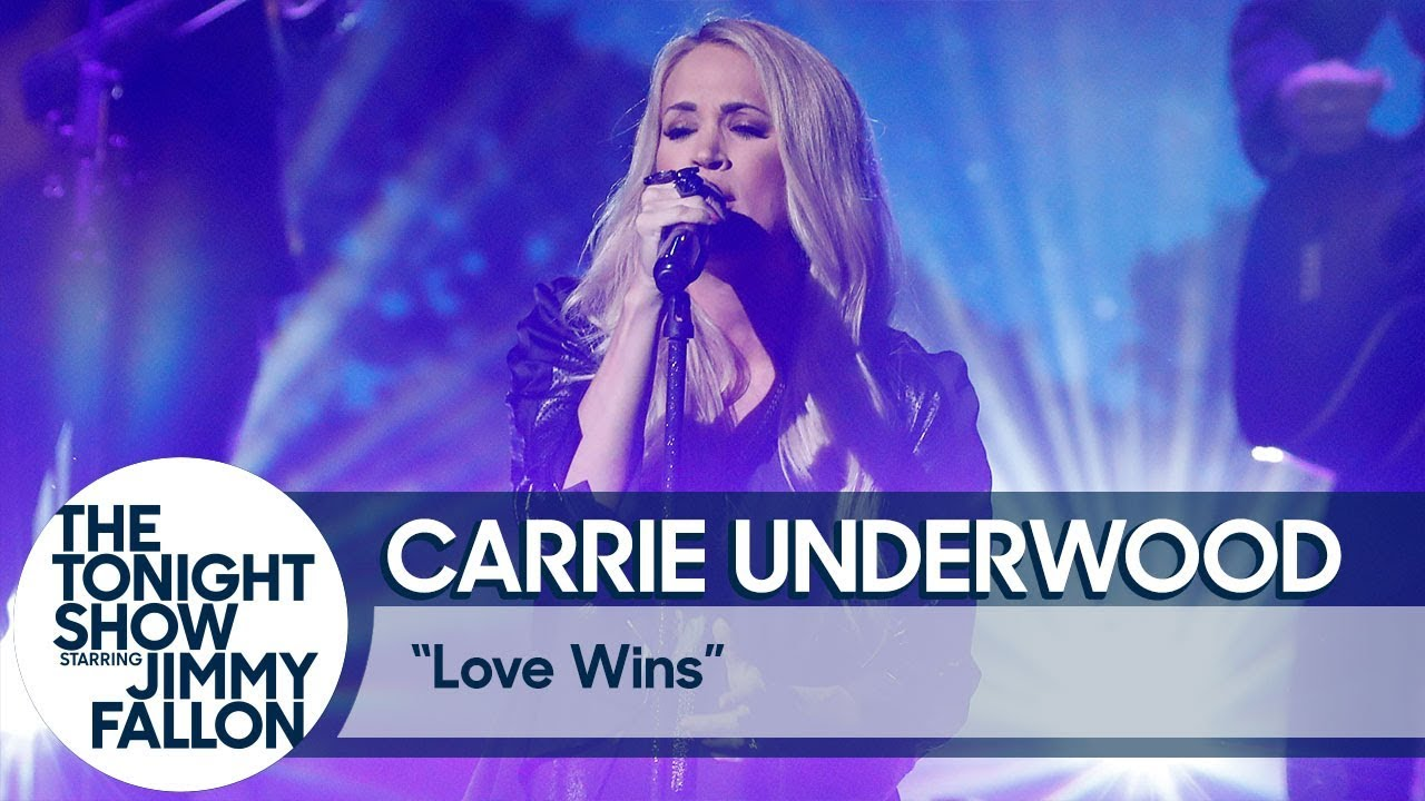 Watch: Carrie Underwood performs TV debut of 'Love Wins' on 'Fallon'