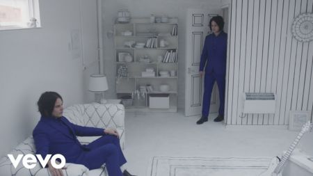 Jack White upholstered ottoman available on eBay; possible record inside