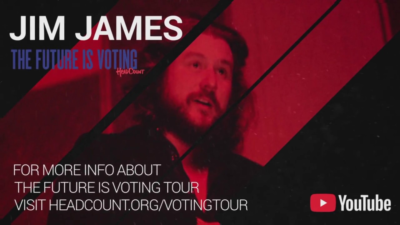 Jim James among artists performing on HeadCount's The Future Is Voting Tour