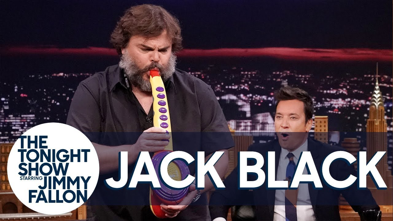Watch: Jack Black delivers epic Sax-a-Boom performance on 'The Tonight Show'