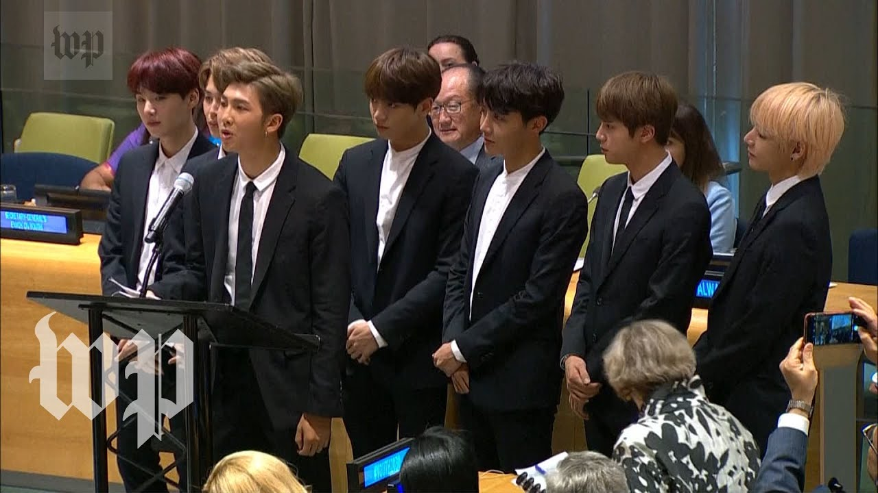 BTS become first K-pop group to address the United Nations