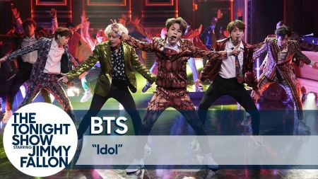 Watch: BTS perform 'Idol' and 'I'm Fine' to screaming fans on 'The Tonight Show'