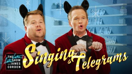 Watch: James Corden and Neil Patrick Harris surprise people with singing telegrams