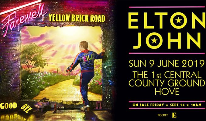 Elton John tickets at 1st Central County Ground in Hove