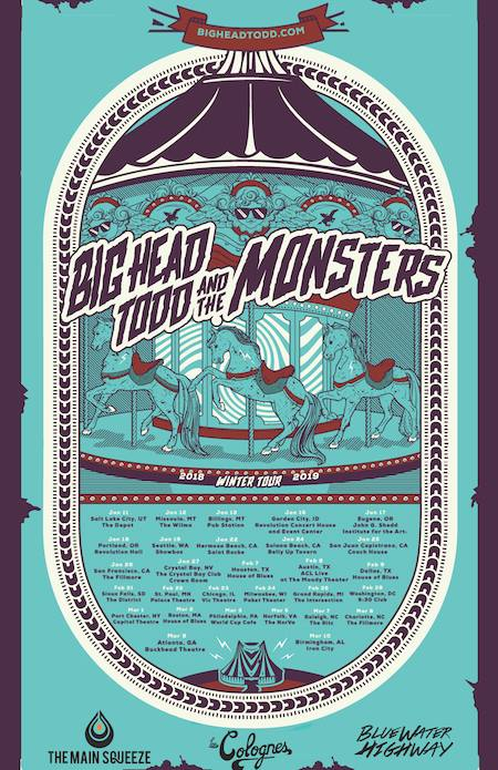 Big Head Todd and the Monsters announce their fall/winter tour dates.