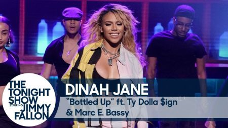 Watch: Dinah Jane debuts new track 'Bottled Up' on 'Fallon' with special guests