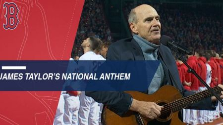 Watch: James Taylor performs National Anthem at World Series opener in Boston