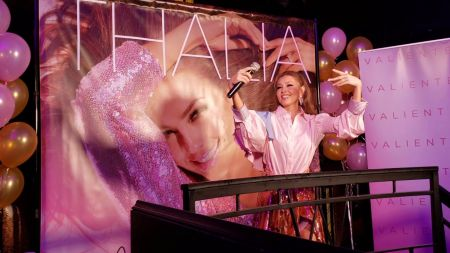 Thalía gets up close with fans at 'Valiente' album preview party in LA