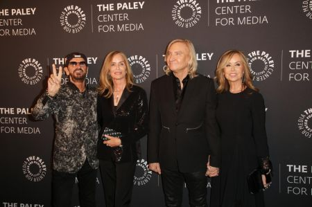 BEVERLY HILLS, CA – October 25, 2018: Paley Honors Recipient Sir Ringo Starr, Barbara Bach, Joe Walsh, and Marjorie Bach arrive at The Paley