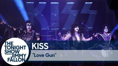 Watch: KISS previews farewell tour with performance of 'Love Gun' on 'Fallon'