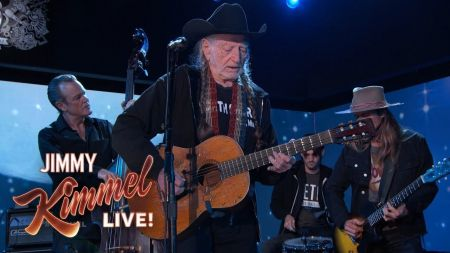 Watch: Willie Nelson performs 'Vote Em Out' on 'Jimmy Kimmel Live'