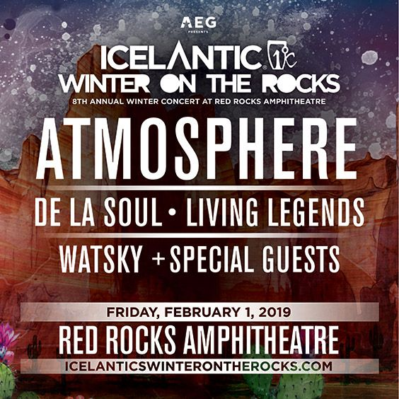 Image for Icelantic's Winter on the Rocks featuring Atmosphere