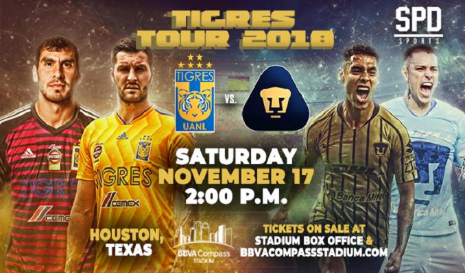 Tigres vs. Pumas tickets at BBVA Compass Stadium in Houston