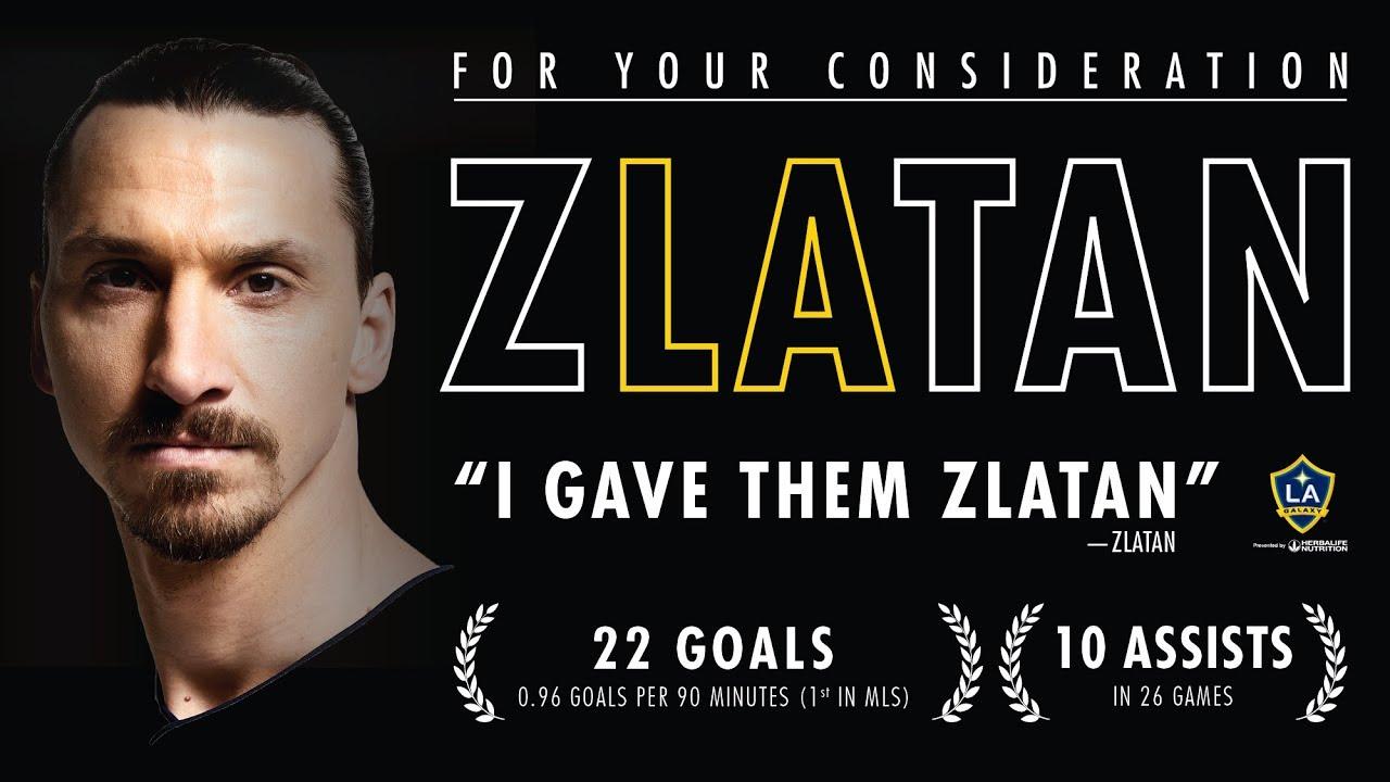 LA Galaxy's Zlatan Ibrahimovic named as finalist for three MLS End-of-Year Awards