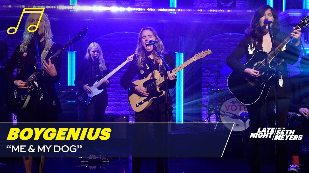 Watch: Lucy Dacus, Julien Baker and Phoebe Bridgers make television debut as boygenius