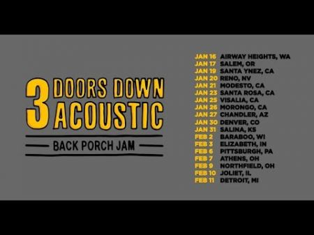 3 Doors Down announce acoustic 'Back Porch Jam' 2019 tour dates