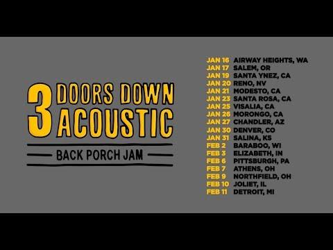 3 Doors Down announce acoustic 'Back Porch Jam' 2019 tour dates