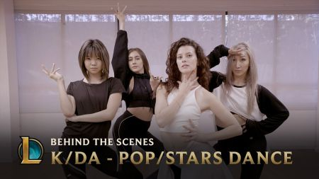 League of Legends release behind the scene choreography video for K/DA's 'POP/STARS' dance