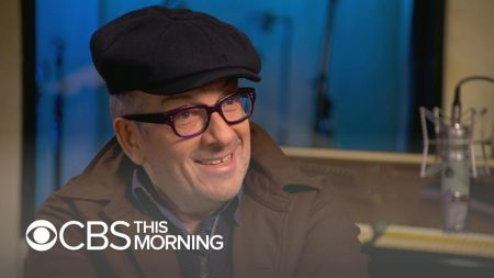 Watch: Elvis Costello talks cancer scare, performs 'Look Now' on 'CBS This Morning'