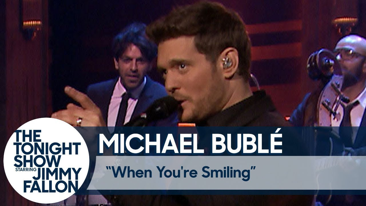 Watch: Michael Bublé performs 'When You're Smiling' on 'The Tonight Show'