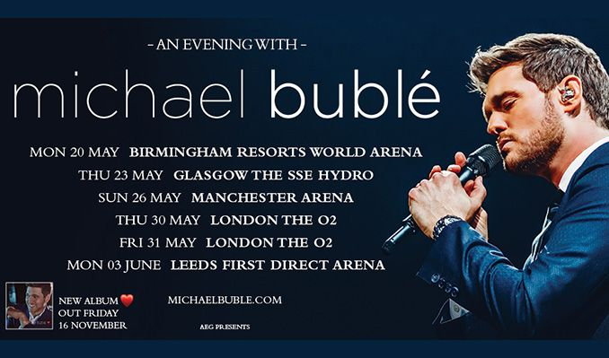 An Evening with Michael Bublé tickets at The SSE Hydro in Glasgow
