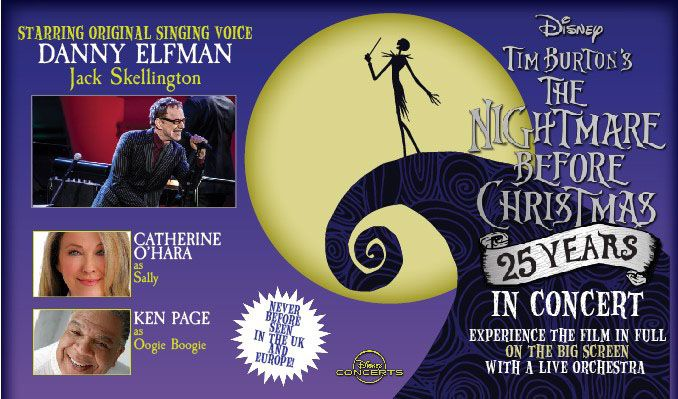 Tim Burton's The Nightmare Before Christmas Live in Concert with Danny Elfman tickets at The SSE