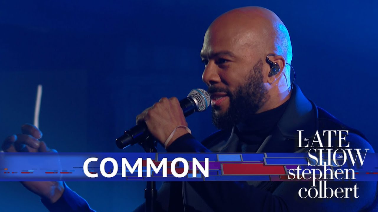 Watch: Michelle Obama helps to introduce Common for inspiring performance on 'Colbert'