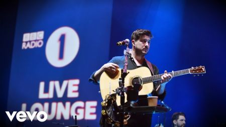 Watch: Mumford & Sons feat. Petr Aleksander cover Ariana Grande's 'breathin' in BBC Live Lounge