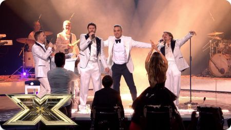 Watch: Robbie Williams joins Take That for epic 'Everything Changes' performance on 'The X Factor UK'