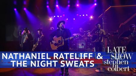 Watch: Nathaniel Rateliff and the Night Sweats perform soulful 'Hey Mama' on 'Colbert'