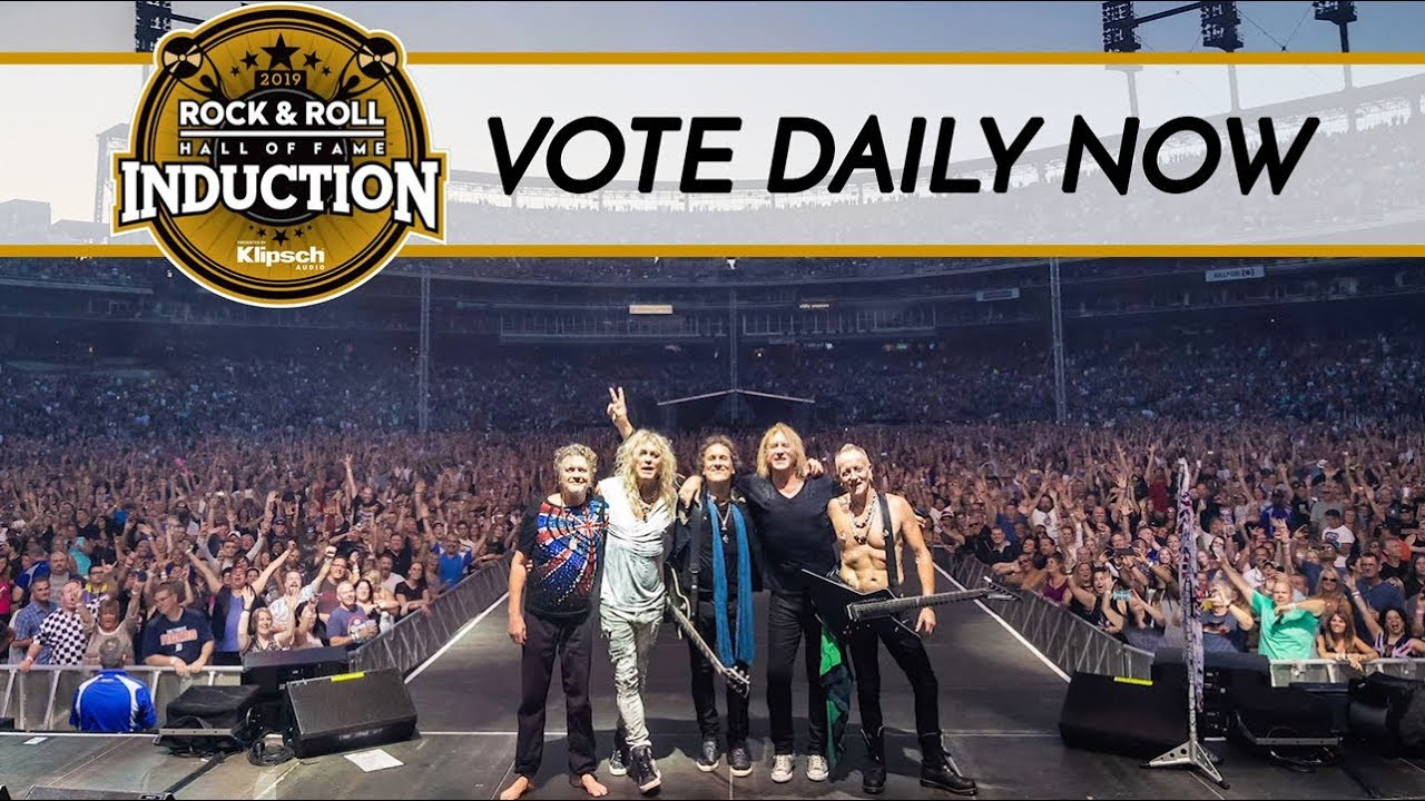 Def Leppard wins 2019 Rock and Roll Hall of Fame fan vote category