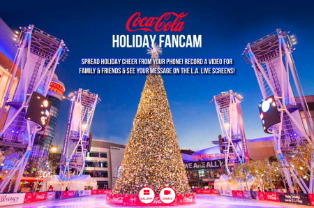 L.A. Live is spreading holiday cheer with the launch of fan cam