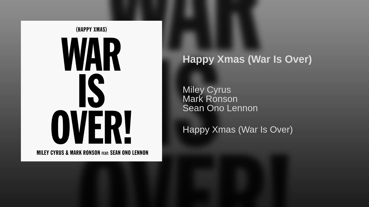 Listen: Miley Cyrus covers 'Happy Xmas (The War Is Over)' with Sean Ono Lennon