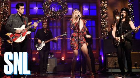 Watch: Miley Cyrus and Mark Ronson perform 'Happy Xmas (War Is Over!)' with Sean Ono Lennon on SNL
