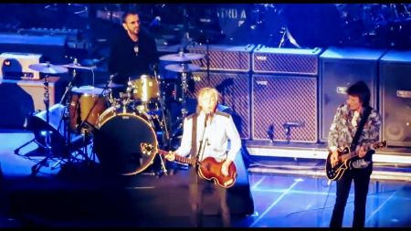 Watch: Paul McCartney performs 'Get Back' with Ringo Starr and Ron Wood in London