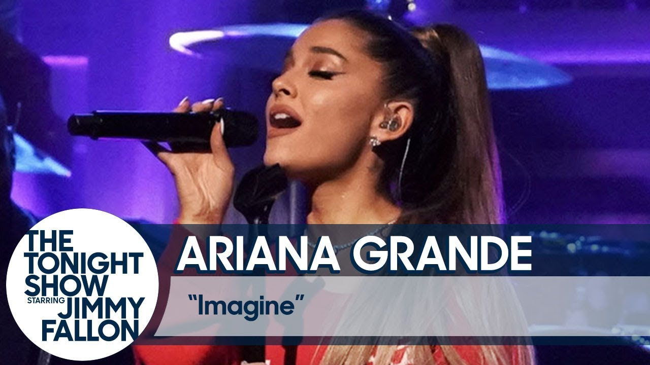 Watch: Ariana Grande teams up with the Roots to perform 'Imagine' on 'Fallon'