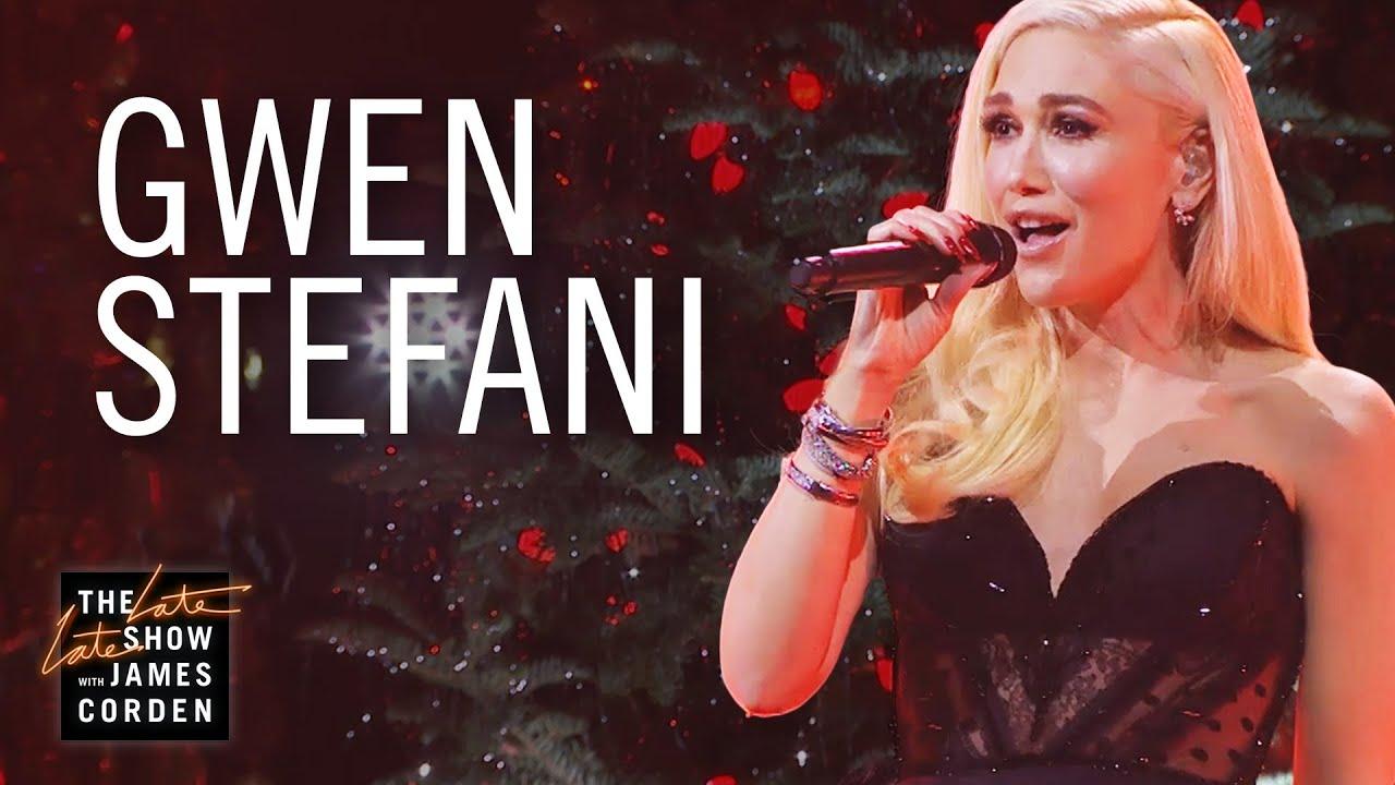 Watch: Gwen Stefani rocks 'You Make It Feel Like Christmas' on 'Corden'
