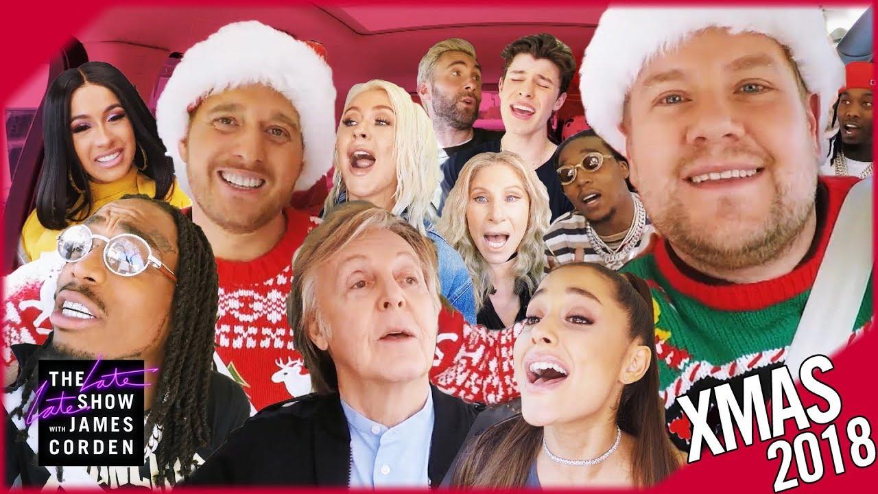 Watch: James Corden leads star-studded 2018 Christmas 'Carpool Karaoke'