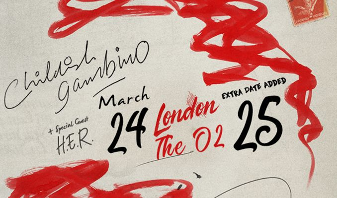 childish gambino rescheduled date tickets in london at the o2 on