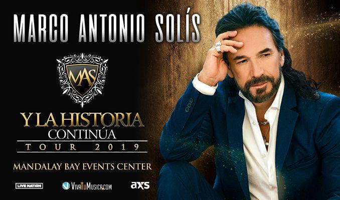 Marco Antonio Solis Tickets In Las Vegas At Mandalay Bay Events